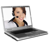 it support woman on laptop
